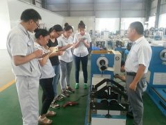 Training about balancing machines in the workshop