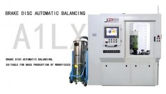 Vertical milling automatic balancing machine for brake disc