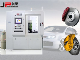 Automatic brake disc balancing machine