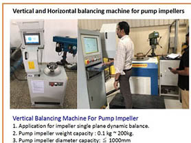Dynamic balance machine of pump
