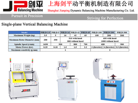 JP Vertical Balancing Machines