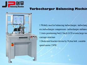 JP Turbo Charger Balancing Machines