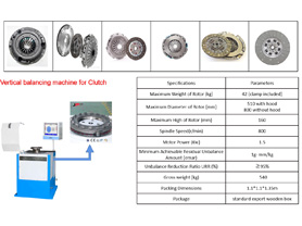 Vertical Balancing Machine for Clutch