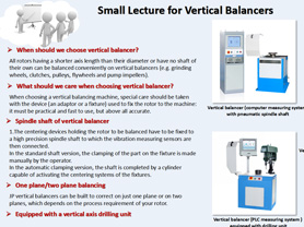 Small Lecture for Vertical Balancers