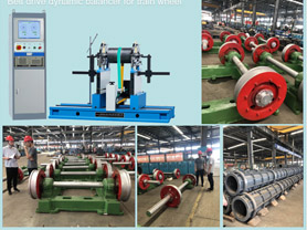 Belt Balancing Machine for Train Wheel