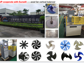 Axial Fan Vertical Balancing Machine
